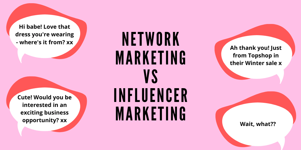 Network Marketing vs Influencer Marketing