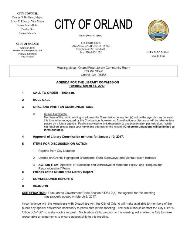 library commission agenda March 14 2017