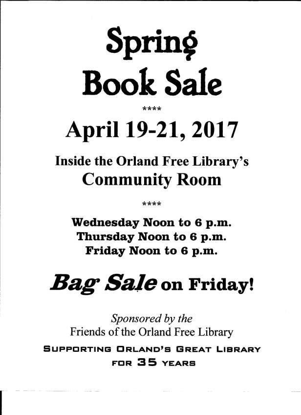 Book sale spring 2017