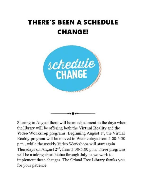 OFL Program Schedule Change ver 2