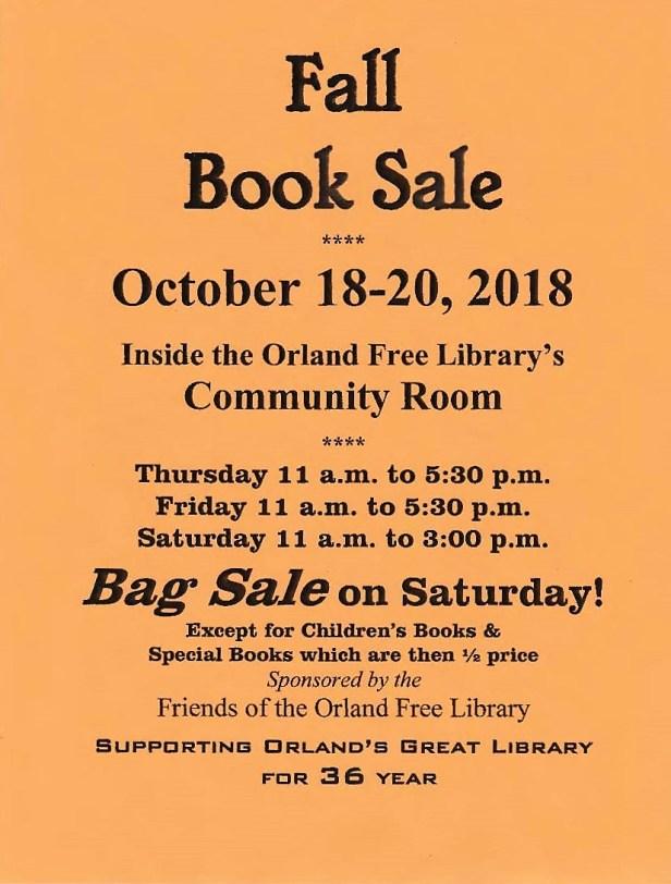 Fall 2018 Book Sale