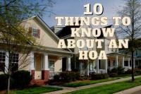 10 Things to Know About an HOA