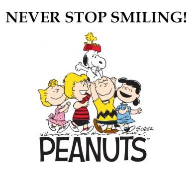 never stop smiling peanuts-orlando espinosa