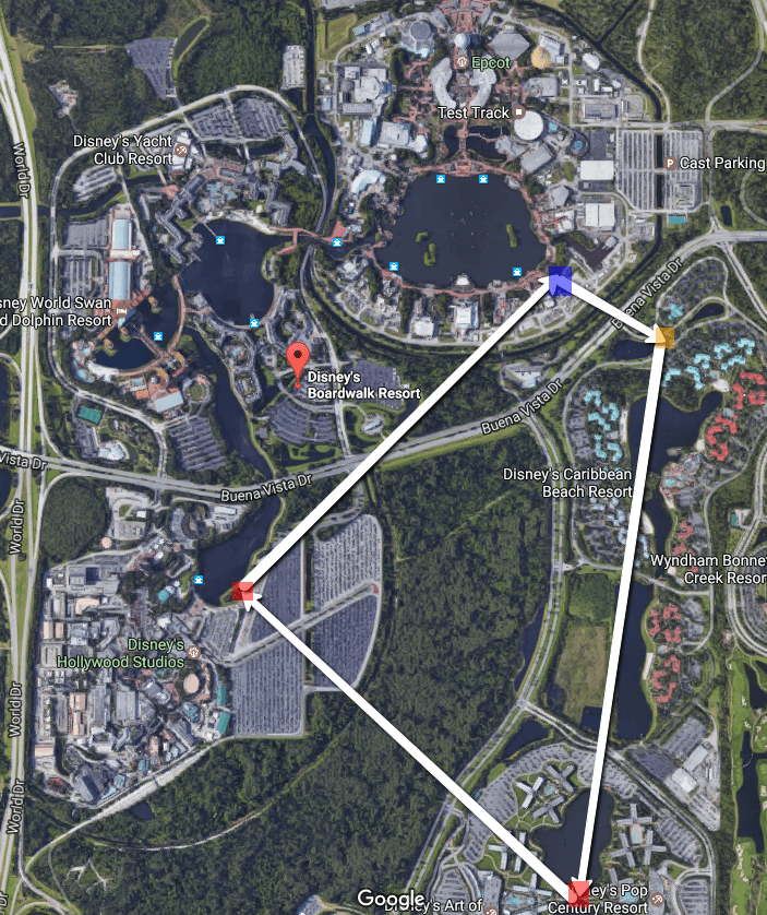 Disney Monorail System Map