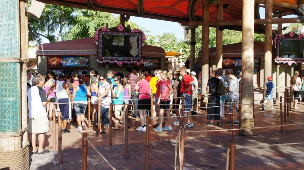 Islands of Adventure ticket booth line