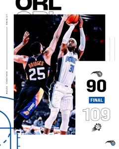 AN UNDERMANNED MAGIC WERE OUTGUNNED IN PHOENIX