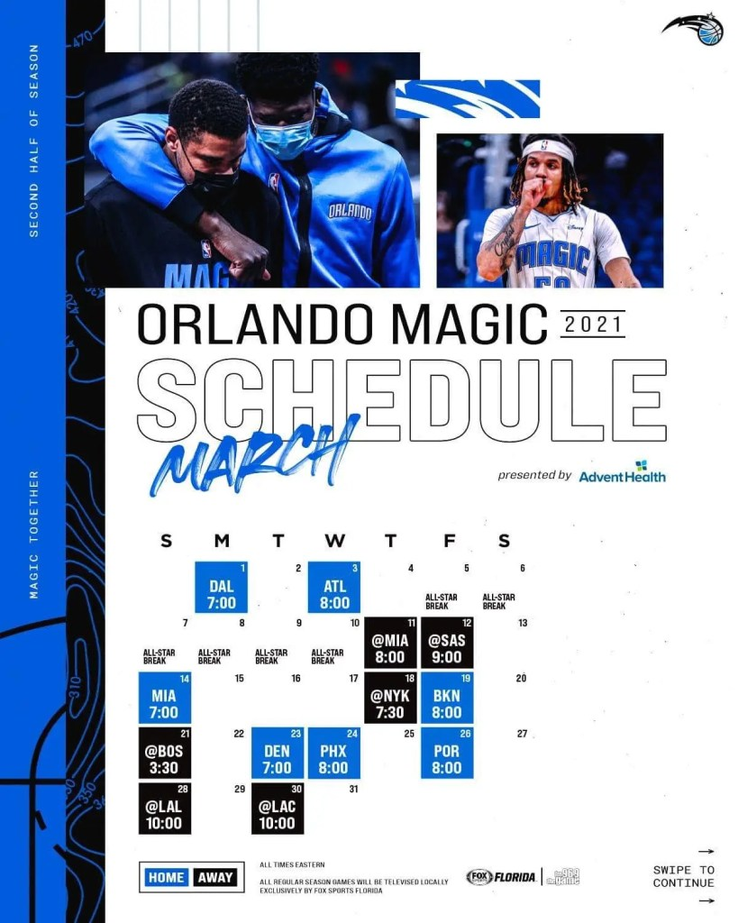 With the NBA schedule release for the second half of the season Orlando Magic fans now know one thing for sure: the Magic have it tough!