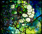 Free museum days: image of Tiffany glass at The Charles Hosmer Morse Museum of American Art: image of colorful Tiffany glass