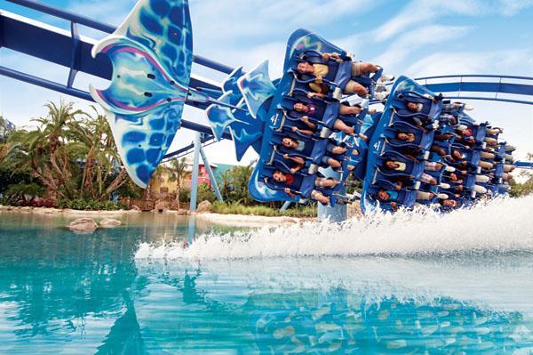 Labor Day weekend things to do: image of Manta coaster at SeaWorld Orlando