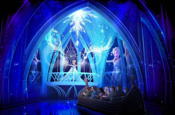 Walt Disney World Resort virtual rides: image of Frozen Ever After Ride at Epcot