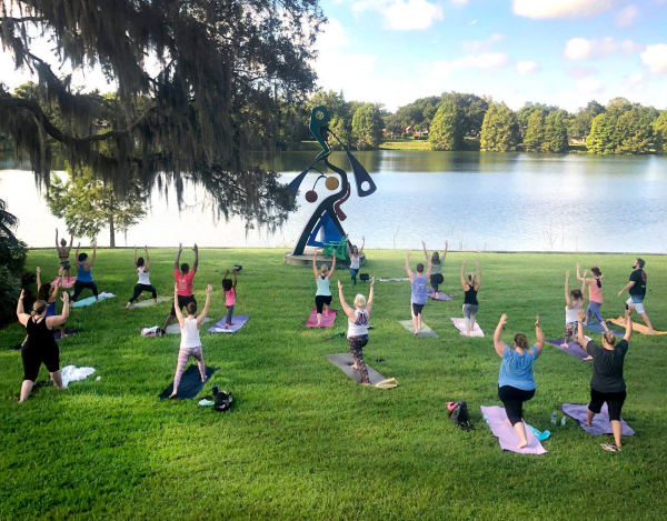 Things to do in Orlando - image of yoga class at Mennello Museum