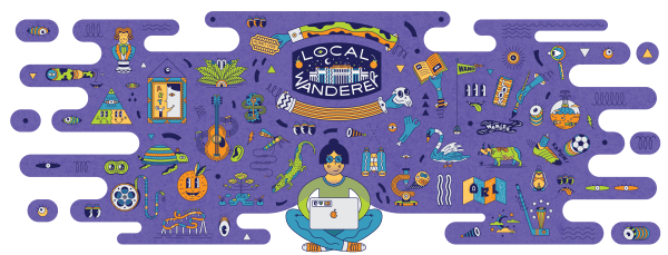 Free attraction passes at library: image of Local Wanderer logo