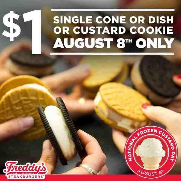 Freddy's frozen custard $1