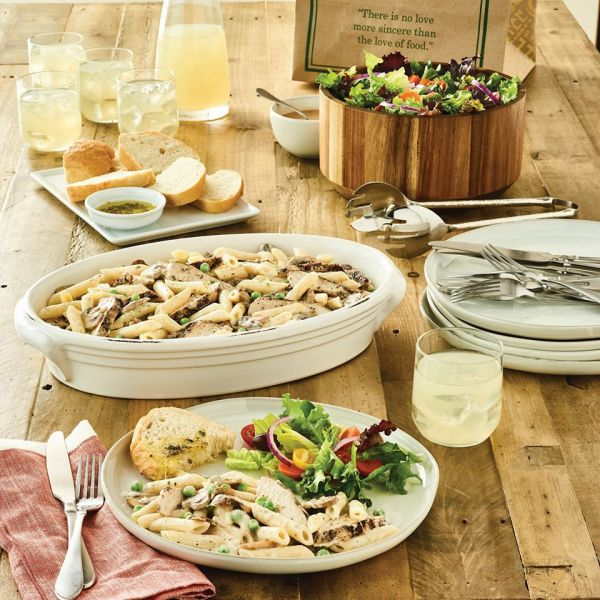 Family meal deals Orlando: image of pasta and salad from Carrabba's