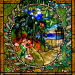 Free museum: image of Tiffany glass at Morse Museum in Winter Park