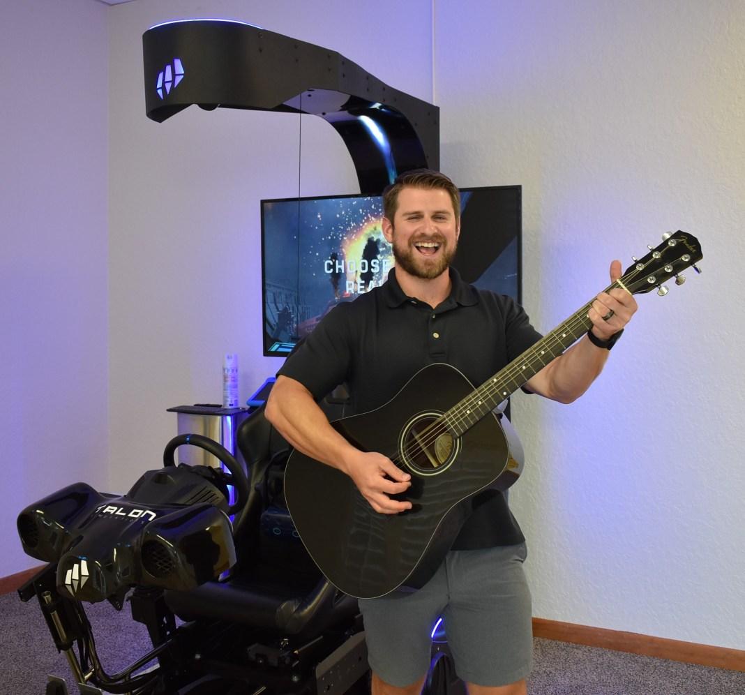 Brandon Naids likes to rock