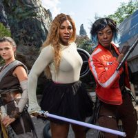 Tennis Star Serena Williams Visits Star Wars: Galaxy's Edge at Disney's Hollywood Studios