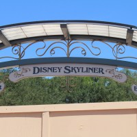 Entrance Marquee Signage for Disney Skyliner Station at International Gateway in Epcot Unveiled