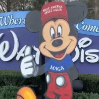 Pro-President Trump Group with MAGA Mickey Asked to Move Outside Walt Disney World