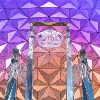 EPCOT's Fountain Prism Pylons Installed Overnight