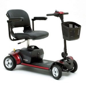 Pride portable 4-wheel electric scooter for rent