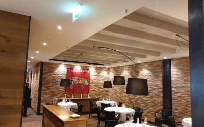 Restaurant chez Philippe, mise en place d'isolant et de toile acoustique Orma Sound.
