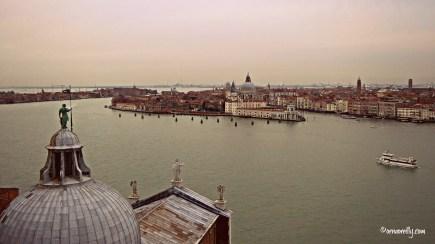 Wintery view from Campanile of San Giorgio Maggiore