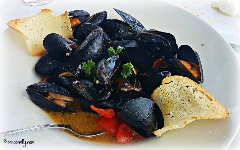 Steamed mussela