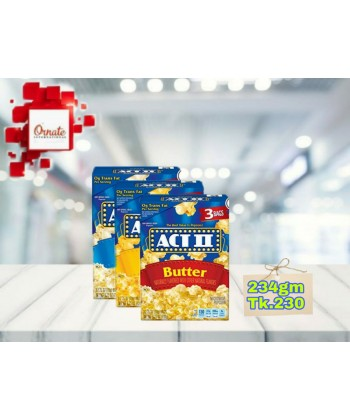 act ii butter microwave popcorn 234g