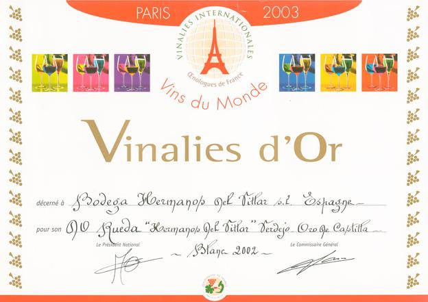 Vinalies internationales verdejo 2003