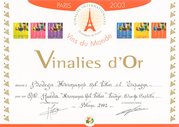 Vinalies internationales verdejo 2003