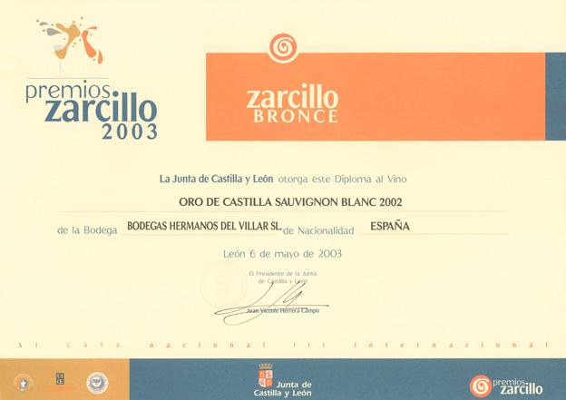 Zarcillo bronce sauvignon 2003
