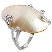 anillo de oro blanco y nacar aurea