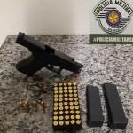 Polícia detém homem com sinais de embriaguez e armado com pistola 380 em São Pedro