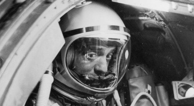 O rosto de Shepard pouco antes do lançamento fala por si...