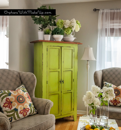 Luscious Lime Armoire Orphans With Makeup