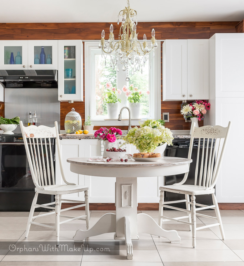 cottage style kitchen table makeover