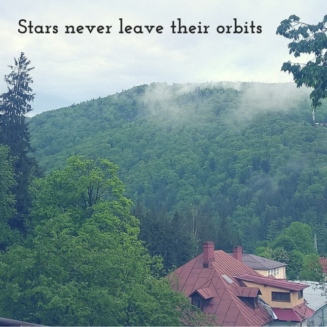 Stars never leave their orbits