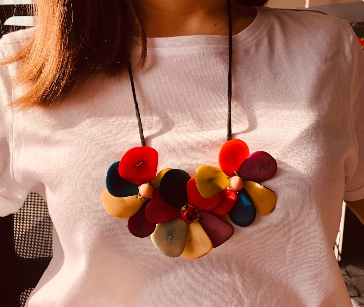 Tagua nut handmade necklace from Peru