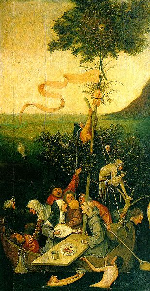 La Nef des Fous par Hieronymus Bosch (circa 1450–1516) [Public domain], via Wikimedia Commons