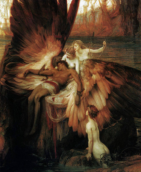 Lament for Icarus par Herbert Draper [Public domain], via Wikimedia Commons