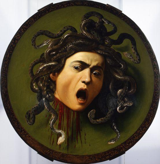 Méduse par Caravaggio [Public domain], via Wikimedia Commons