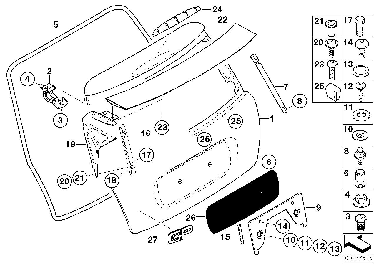 Mini R53 Jcw Gp Rear Number Plate Surround