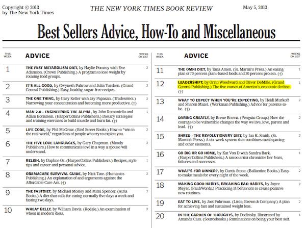 NY Times Bestseller - LeaderShift
