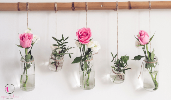 Upcycle hanging rose vases_reuse cosmetic containers_plastic bottles