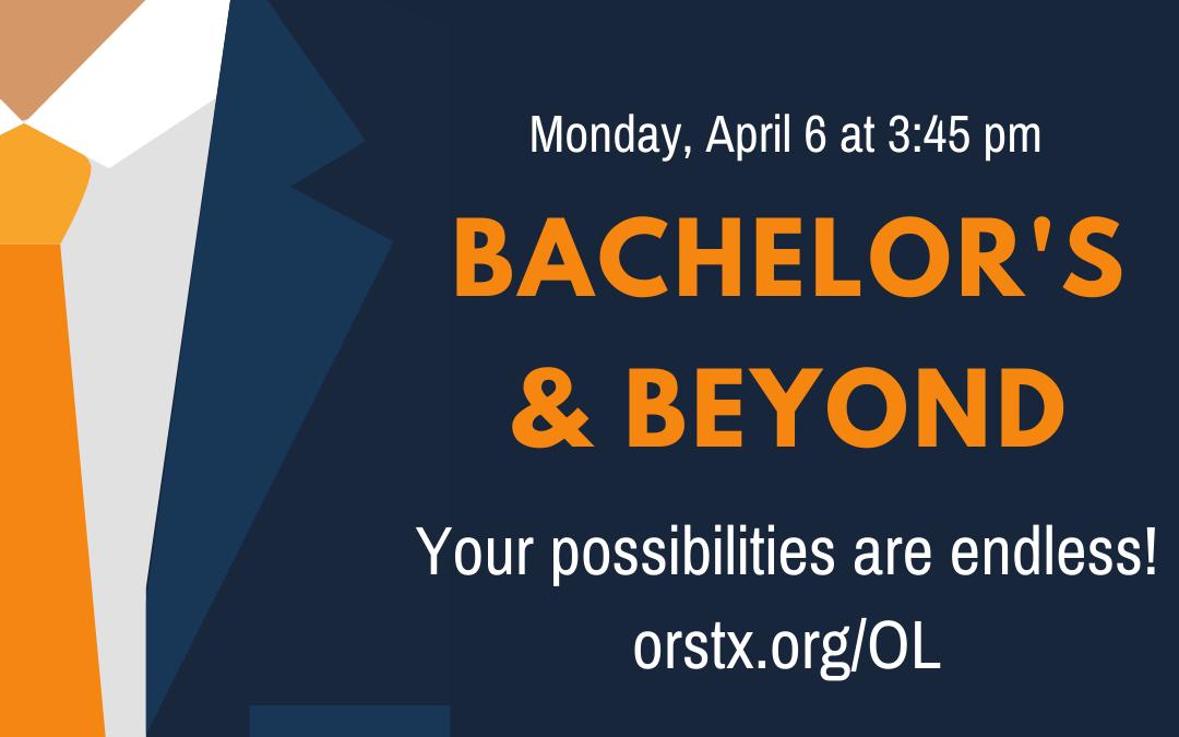 Workshop: Bachelors and Beyond