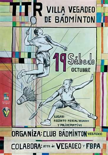 Este sábado se disputa el Torneo Villa de Vegadeo de Bádminton