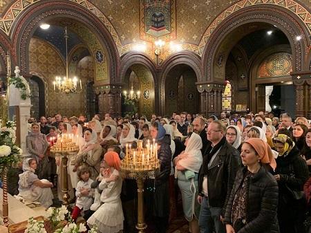 Pascha in the Cathedral of the Exaltation of the Cross in Geneva   Пасха Христова в кафедральном соборе Женевы