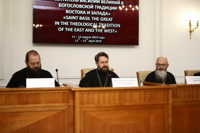 Bishop Irenei with other presenters at St Basil conference in Moscow