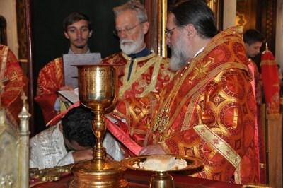 His Grace Bishop Alexander ordains Subdeacon Aviv as Deacon, Geneva 2019